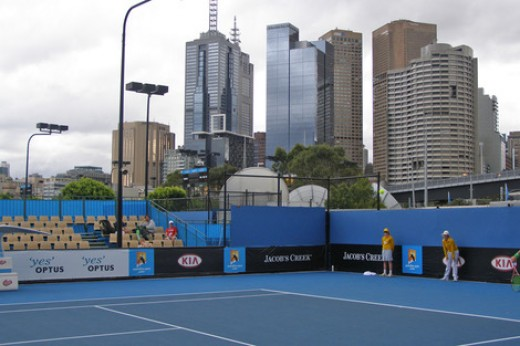 The Australian Open takes place in Melbourne every January